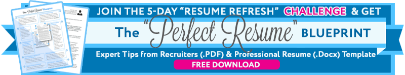 Perfect Resume Writing Blueprint Download Banner
